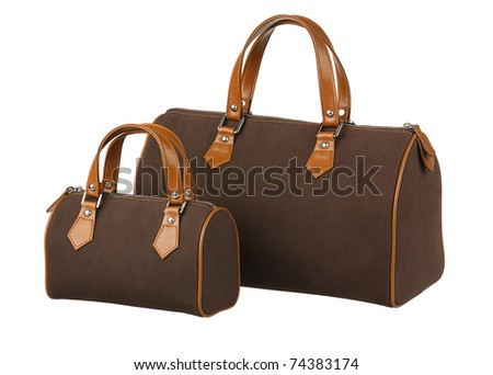 Pair of handbag big and small the choice for your lifestyle - stock photo