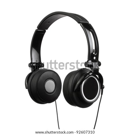 Pair of Headphones Isolated on a White Background - stock photo