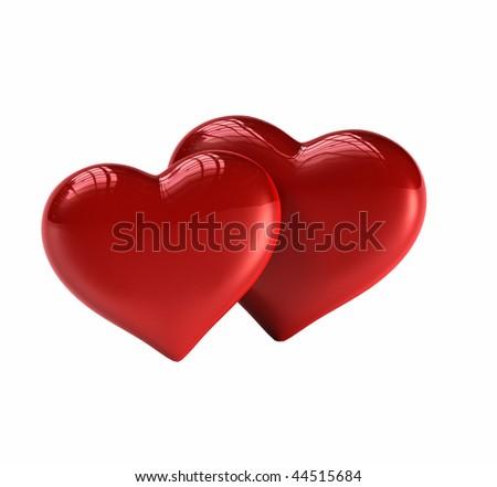 Pair of Hearts - stock photo