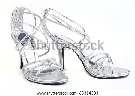 Pair of High Heels shoe isolated on white background - stock photo