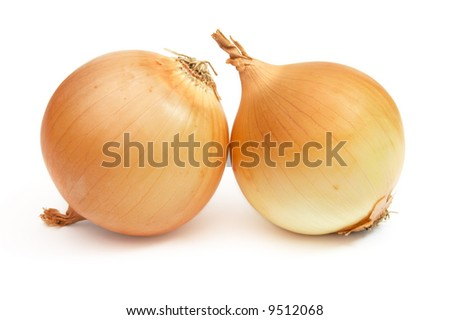 pair of onions /w clipping path