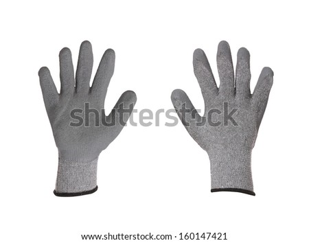 Pair of rubber gloves. Isolated on a white background.