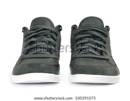 Pair of  shoes isolated on white background - stock photo