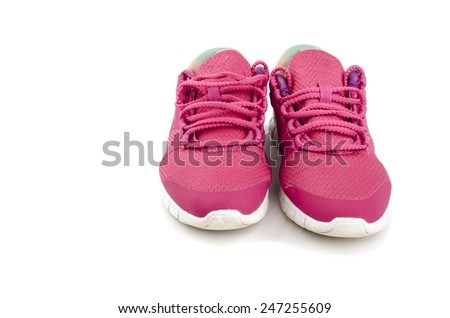 pair of sneakers - stock photo