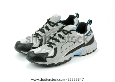 Pair of Sneakers on the White - stock photo