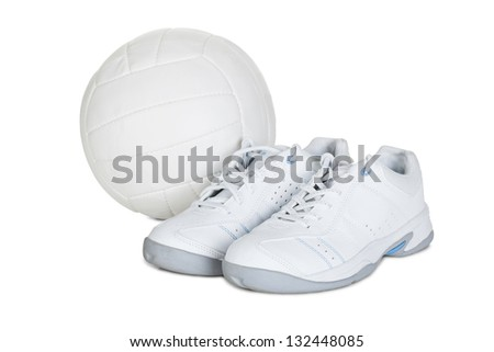 Pair of sport shoes. Isolated on white background - stock photo