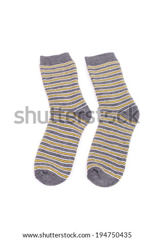 pair of striped socks closeup