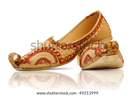 Pair of traditional Indian shoes