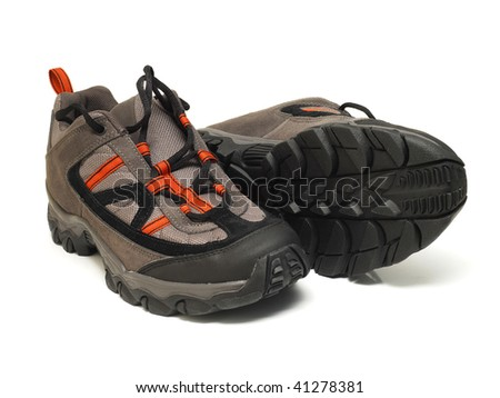 pair of trekking shoes