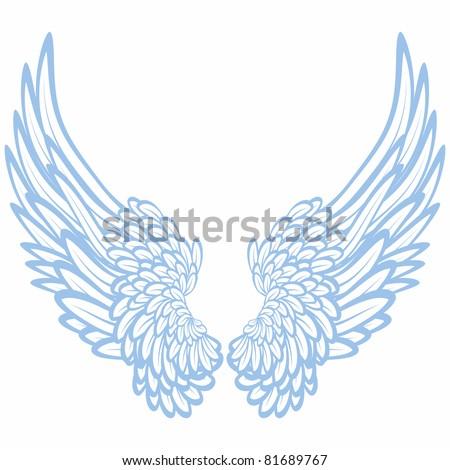 Pair of wings - stock photo