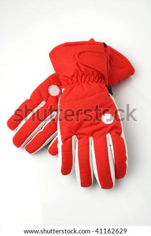 Pair of winter ski gloves. - stock photo