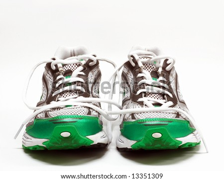 Pair of womens running shoes - stock photo