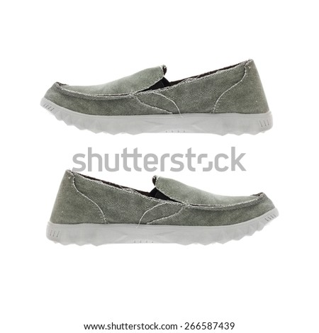pair shoes isolated on white background - stock photo