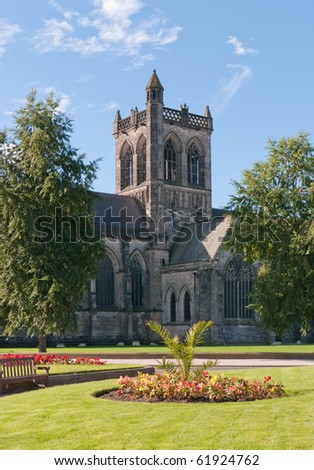 Paisley Abbey in Scotland. Believed to be where William Wallace (Braveheart) was educated 700 years ago. - stock photo