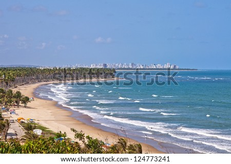 Paiva beach - Pernambuco - Brazil - stock photo