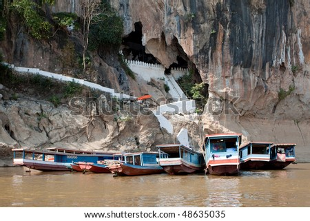 Pak Ou Cave - stock photo