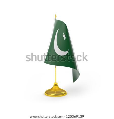 Pakistan Flag Detail Render - stock photo