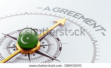 Pakistan High Resolution Agreement Concept - stock photo