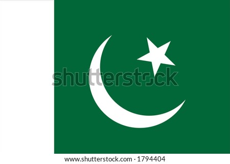 Pakistan National Flag - stock photo