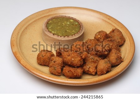 Pakoras, Pakoda, Bhajiya - stock photo