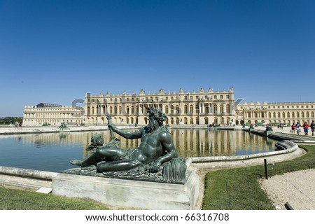 Palace de Versailles, France, UNESCO - stock photo