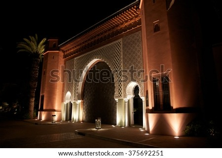 palace entrance in Marrakesh, Morocco, Africa