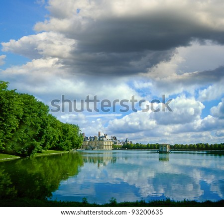 Palace Fontainebleau, Ile-de-France, France, UNESCO World Heritage Site - stock photo