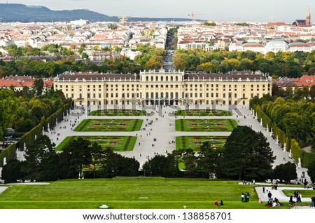 Palace garden of schonbrunn - stock photo