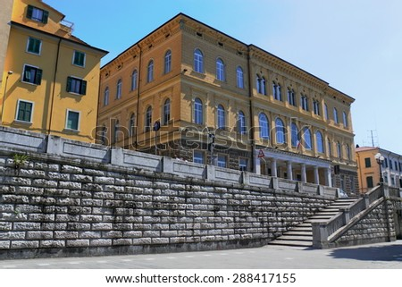 Palace in Carrara - stock photo
