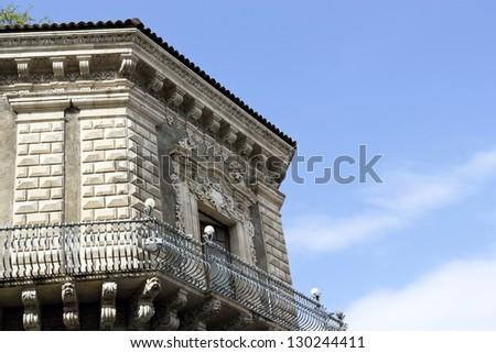 Palace in Catania - stock photo