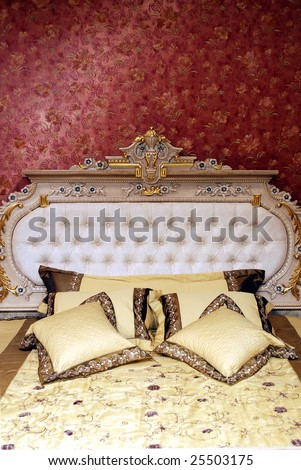 Palace interior bedroom - stock photo
