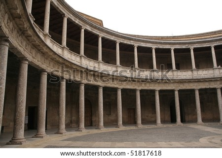 Palace of Charles V in Alhambra, Spain - stock photo