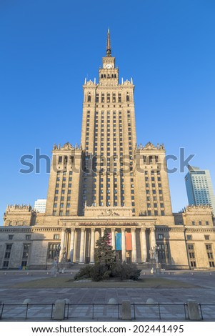 Palace of Culture and Science. Warsaw. Poland