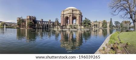 Palace of Fine Arts at San Francisco, California, USA - stock photo