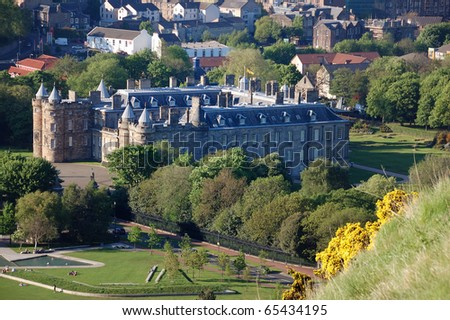 Palace of Holyrood House - stock photo