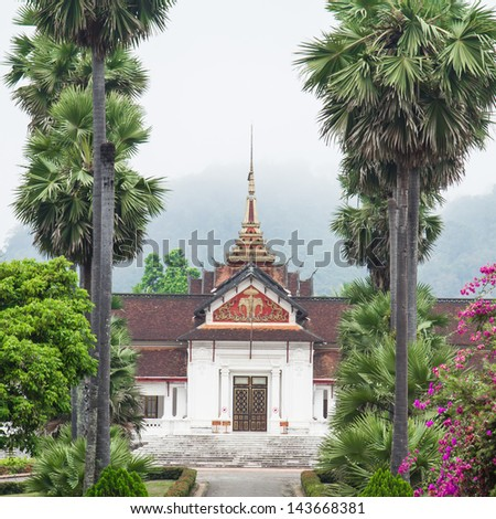 Palace of Luang prabang is favorite from to traveler around the world - stock photo