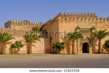 Palace of moroccan King, Meknes