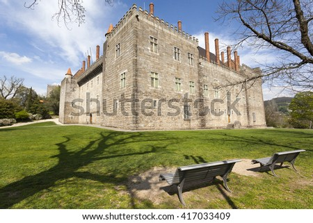 Palace of the Duques of Braganca, Guimaraes Portugal - stock photo