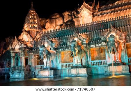 Palace of the elephants, Thailand - stock photo