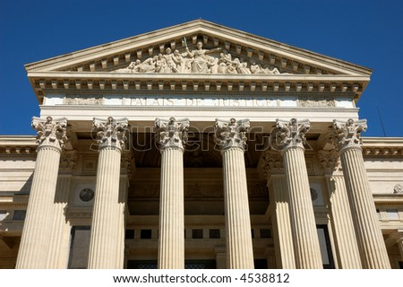 Palace of the Justice in Nimes, France