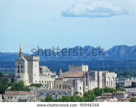 Palace of the Popes in Avignon C - stock photo