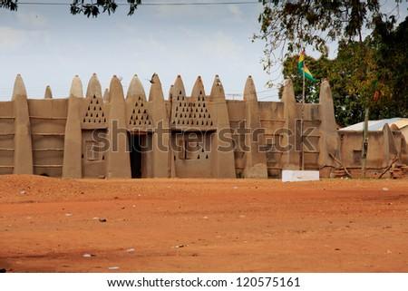 Palace of the Wa Na, in Wa, Ghana - stock photo
