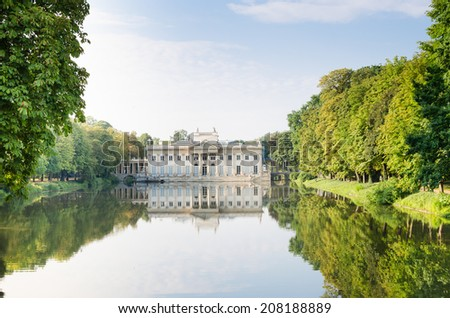 Palace on the Water in Lazienki Park - stock photo
