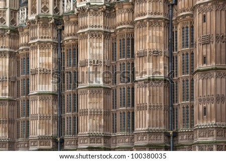 Palace or The British Parliament. - stock photo