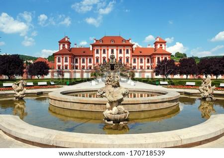 Palace Prague - stock photo