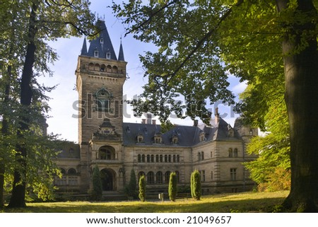 palace Schloss Hummelshain - stock photo