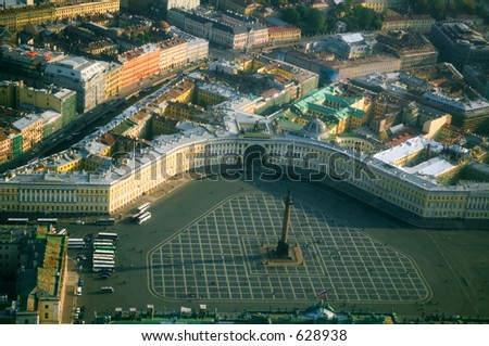 Palace Square and the Alexander Column [#4924] - stock photo