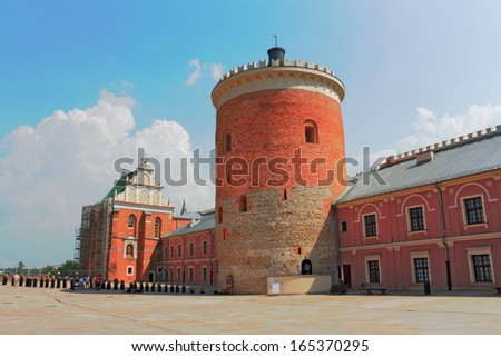 Palace Square Lublin - stock photo