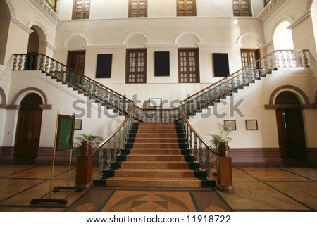 Palace stair interior - stock photo