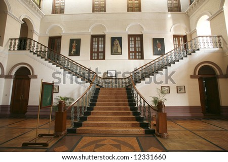 Palace stair interior - stock photo